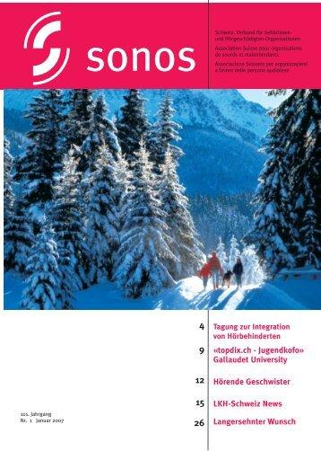 Januar 07 - sonos - Schweizerischer Verband für das ...