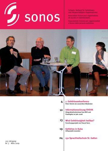 März 09 - sonos - Schweizerischer Verband für das Gehörlosenwesen