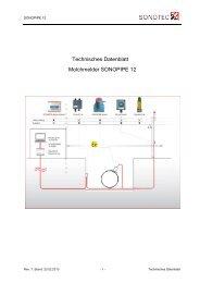 Technisches Datenblatt Molchmelder SONOPIPE 12