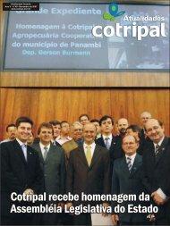 Cotripal recebe homenagem da Assembléia Legislativa do Estado