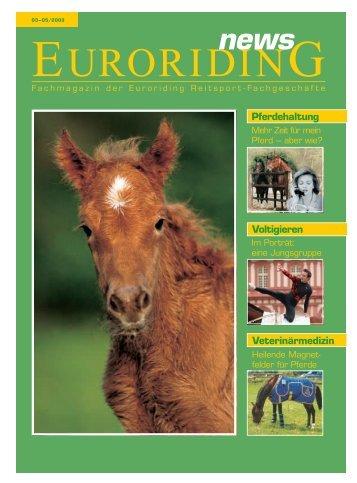 Voltigieren Veterinärmedizin Pferdehaltung - Euroriding