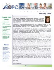 January 2009 Newsletter - Sopc.us