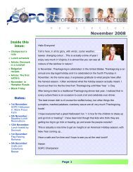 SOPC Newsletter November 2008 - Sopc.us