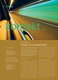 Infrastruktur - Planen für Generationen