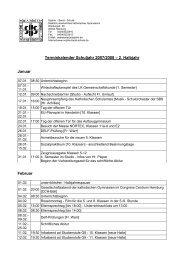 Terminkalender Schuljahr 2007/2008 – 2. Halbjahr Januar Februar