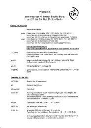 Programm zum Fest der Hl. Mutter Sophie Barat am 27. bis 29. Mai ...