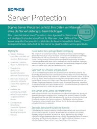 Datenblatt Server Protection - Sophos