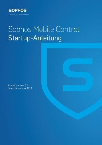 Sophos Mobile Control Startup-Anleitung