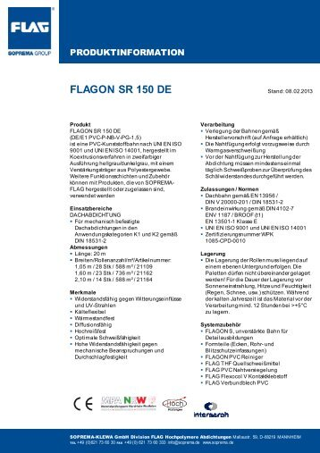 Produktinformation - SOPREMA-KLEWA GmbH