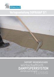 Verlegeanleitung - SOPREMA-KLEWA GmbH