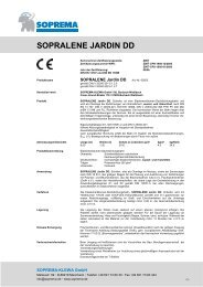 SOPRALENE JARDIN DD - SOPREMA-KLEWA GmbH