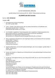Leistungserklärung - SOPREMA-KLEWA GmbH