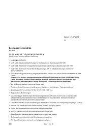 Leistungsverzeichnis - SOPREMA-KLEWA GmbH