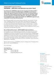 abdichten und dämmen aus einer Hand - SOPREMA-KLEWA GmbH