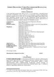 Alapító okirat - Sopron
