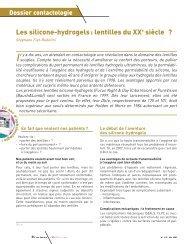 Les différentes lentilles - Contacto.fr