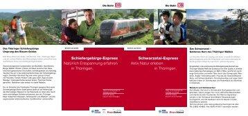Schwarzatal-Express Aktiv Natur erleben in ... - Sormitztalbahn