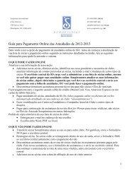 Guia para Pagamento Online das Anuidades de 2012 ... - Soroptimist