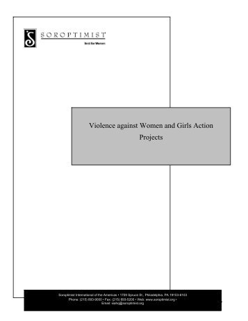 Violence against Women and Girls Action Projects - Soroptimist