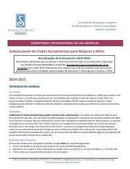 Subvenciones de Clubes Soroptimistas para Mujeres y Niñas 2013 ...