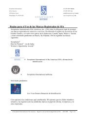 Reglas para el Uso de las Marcas Registradas de SIA - Soroptimist