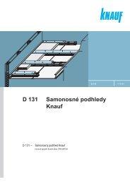D 131 Samonosné podhledy Knauf - SORTIM