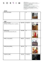 Katalog katalogů - nabídka katalogů podlah - SORTIM