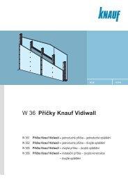 W 36 Příčky Knauf Vidiwall - SORTIM