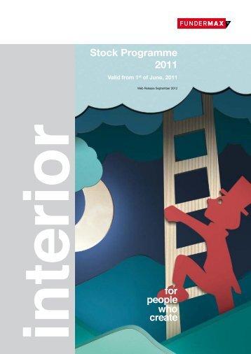 Stock Programme 2011 - SORTIM