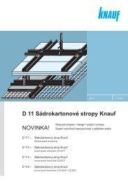 D 11 Sádrokartonové stropy Knauf NOVINKA! - SORTIM