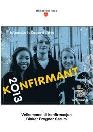 Brosjyre om konfirmasjonen - Sørum