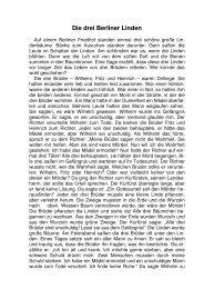 Die drei Berliner Linden