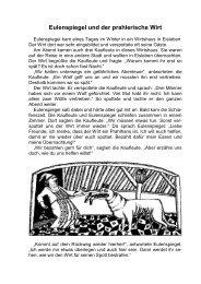 Eulenspiegel und der prahlerische Wirt