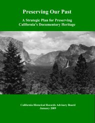 Preserving Our Past: A Strategic Plan for Preserving California's ...