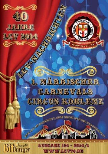 Sonderausgabe 2014 anlässlich des 1.Närrischen Carnevals Circus in Koblenz