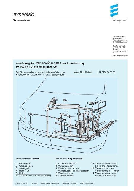 Vw T4 Klimaanlage Schaltplan