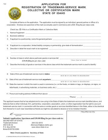 Original Application revised 6-11-12.pmd - Idaho Secretary of State ...