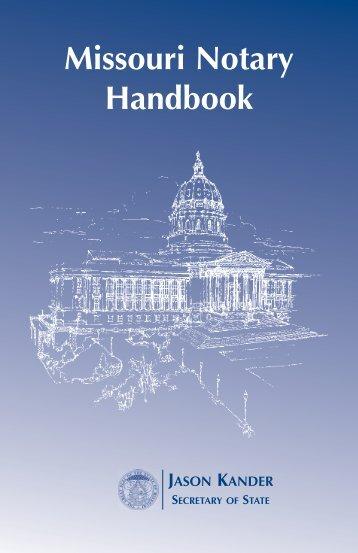 Notary Handbook - Secretary of State