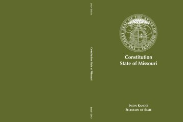 Missouri Constitution - Secretary of State