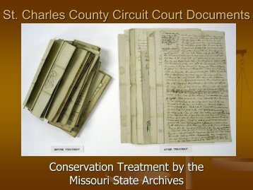 St. Charles County Circuit Court Documents - Secretary of State