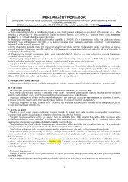 Reklamačné podmienky pre právnické osoby - Sos electronic s. r. o.