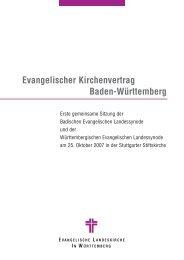 Baden-Württemberg Evangelischer Kirchenvertrag - Evangelische ...