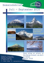 Gemeindebrief Juli bis September 2014