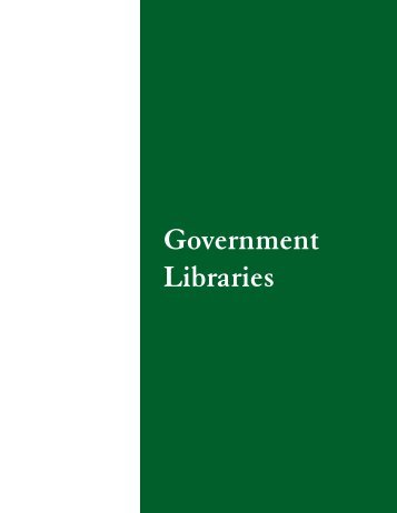 Government Libraries - Washington Secretary of State
