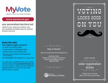 Print guide to voter registration drives - Washington Secretary of State