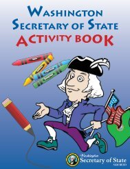 The Washington Secretary of State Activity Book (pdf)