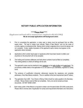 Notary Public Instructions New Application for Hamilton County