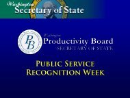 Overview - Washington Secretary of State