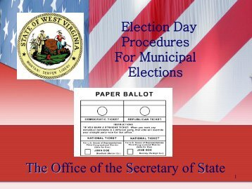 to download and print your Election Training ... - Secretary of State