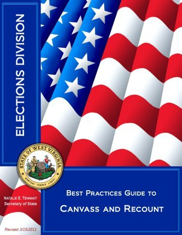 Canvass and Recount Guide 2012 - Secretary of State